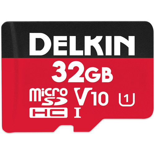 Delkin Devices 32GB Select UHS-I microSDHC Memory Card