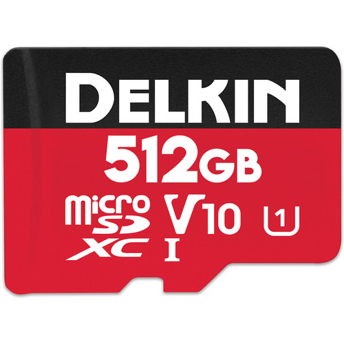 Delkin Devices 512GB SELECT UHS-I microSDXC Memory Card