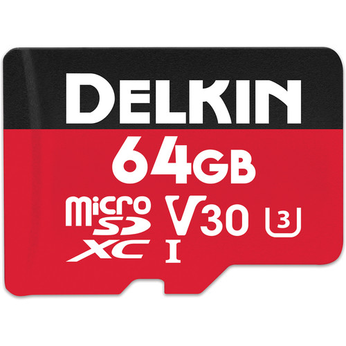Delkin Devices 64GB SELECT UHS-I microSDXC Memory Card
