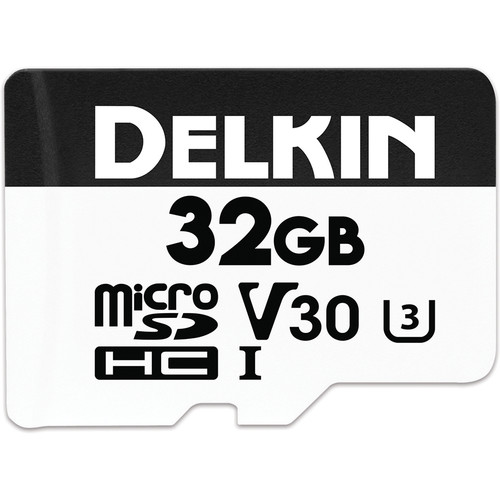 Delkin Devices 32GB Advantage UHS-I microSDHC Memory Card with SD Adapter