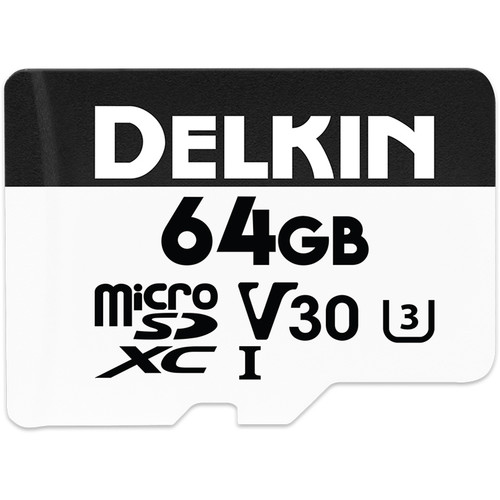 Delkin Devices 64GB Advantage UHS-I microSDXC Memory Card with SD Adapter