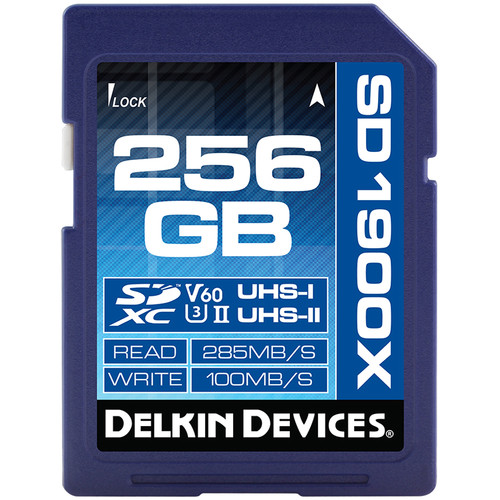 Delkin Devices 256GB UHS-II SDXC Memory Card (V60)