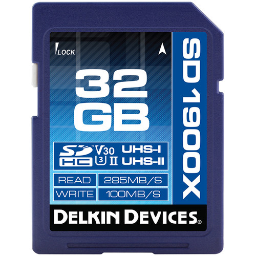 Delkin Devices 32GB UHS-II SDHC Memory Card (V30)