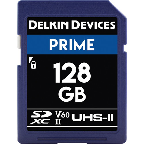Delkin Devices 128GB Prime UHS-II SDXC Memory Card