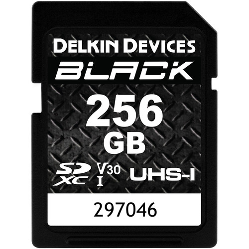 Delkin Devices 256GB BLACK UHS-I SDXC Memory Card