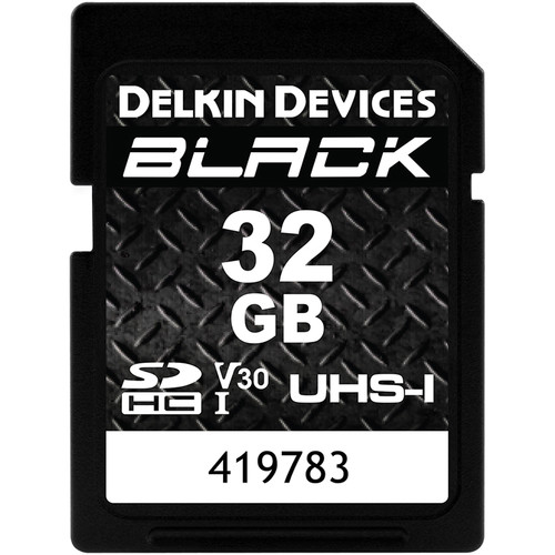 Delkin Devices 32GB BLACK UHS-I SDHC Memory Card