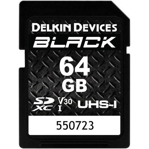 Delkin Devices 64GB BLACK UHS-I SDXC Memory Card