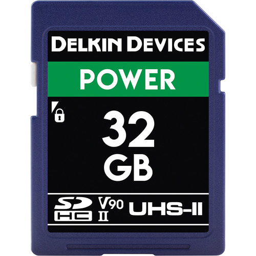 Delkin Devices 32GB Power UHS-II SDHC Memory Card