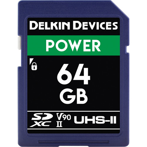 Delkin Devices 64GB Power UHS-II SDXC Memory Card