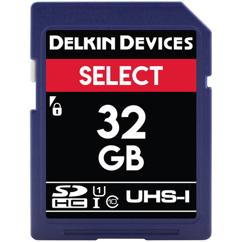 Delkin Devices 32GB Select UHS-I SDHC Memory Card