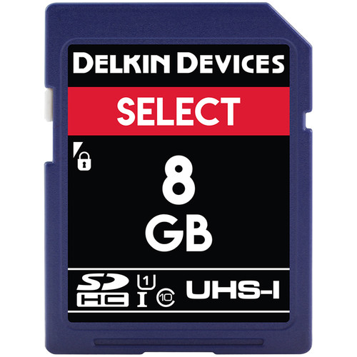 Delkin Devices 8GB SELECT UHS-I SDHC Memory Card