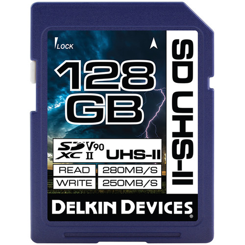 Delkin Devices 128GB Cinema SDXC UHS-II Memory Card