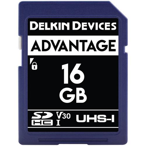 Delkin Devices 16GB Advantage UHS-I SDHC Memory Card