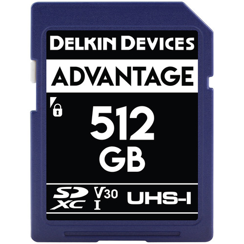 Delkin Devices 512GB Advantage UHS-I SDXC Memory Card
