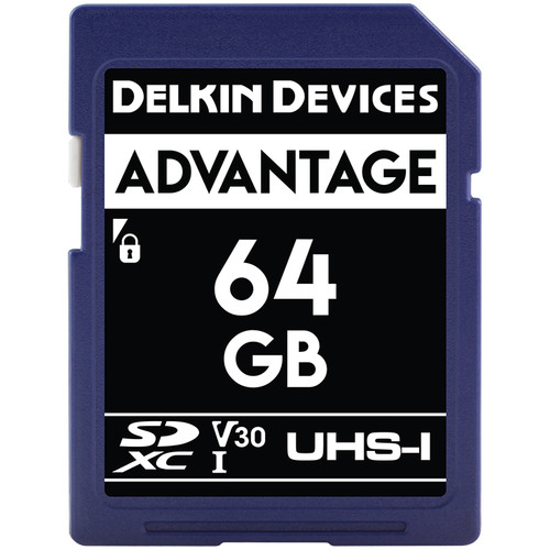 Delkin Devices 64GB Advantage UHS-I SDXC Memory Card