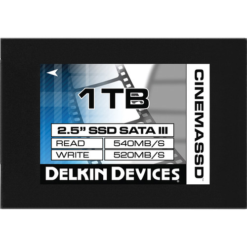 "Delkin Devices 1TB Cinema SATA III 2.5"" Internal SSD"