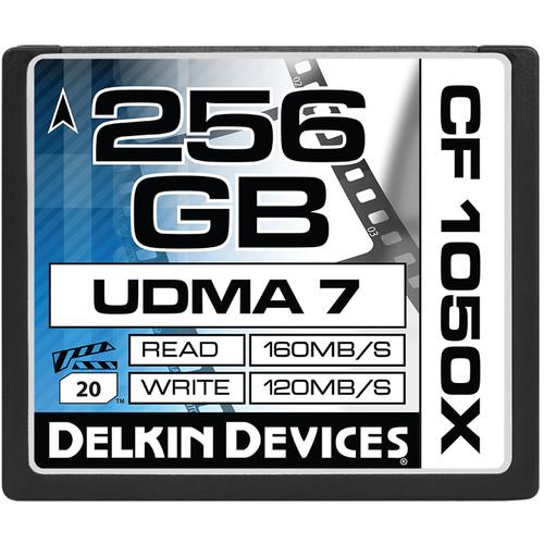Delkin Devices 256GB CF 1050X UDMA 7 Cinema Memory Card