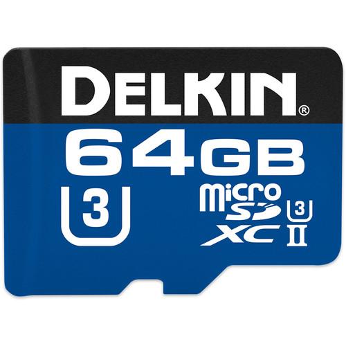 Delkin Devices 64GB 1900X UHS-II microSDXC Memory Card (U3)