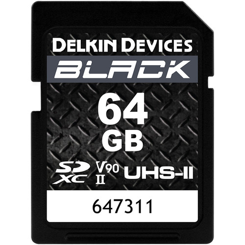Delkin Devices 64GB BLACK UHS-II SDXC Memory Card