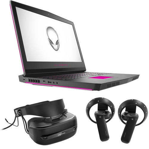 """Dell 17.3"""" Alienware 17 R4 Notebook & Lenovo Explorer Mixed Reality Headset with Motion Controllers Kit"""