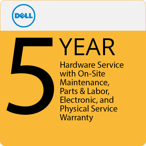 Dell 5-Year Hardware Service with On-Site Maintenance, Parts & Labor, Electronic, and Physical Service Warranty