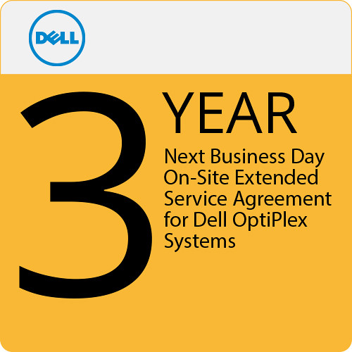Dell 3-Year Next Business Day On-Site Extended Service Agreement for Dell OptiPlex Systems