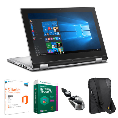"Dell Dell 11.6"" Inspiron 11 3000 Multi-Touch 2-in-1 Notebook Kit with Microsoft Office 365 Personal, Anti-Virus Software, Mouse, and Notebook Bag"