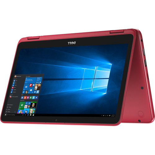 """Dell 11.6"""" Inspiron 11 3000 Series Multi-Touch 2-in-1 Notebook (Red)"""