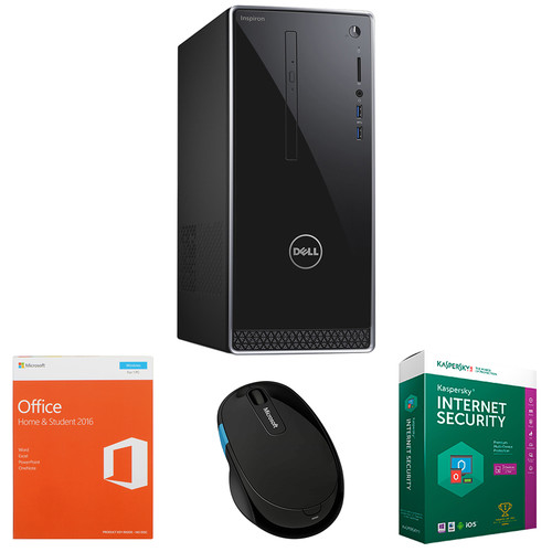 Dell Dell Inspiron 3000 Series Mini Tower Desktop Computer with Microsoft Office Home & Student 2016, Kaspersky Internet Security 2016, and Microsoft Sculpt Comfort Mouse Kit