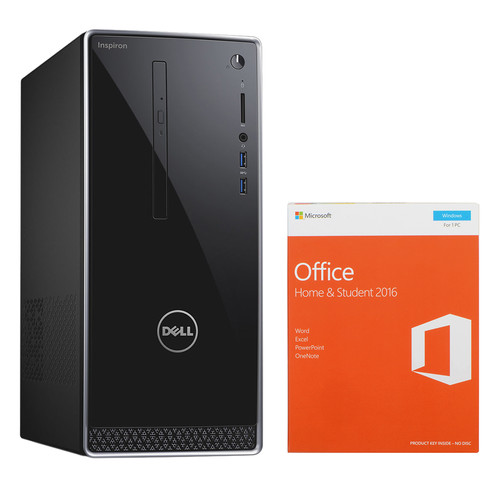 Dell Inspiron 3000 Series Mini Tower Desktop Computer and Microsoft Office Home & Student 2016 Kit