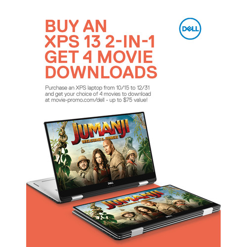 Dell XPS Notebook & 2-in-1 Notebook Movie Bundle Limited Time Offer