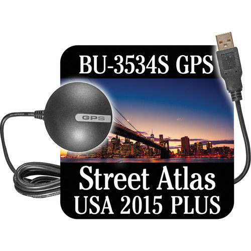 DeLorme BU-353S4 USB GPS Device with Street Atlas 2015 Plus