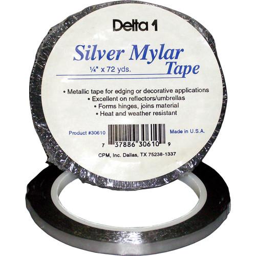 """Delta 1 Mylar Tape (1/4"""" x 72 yd, Silver)"""