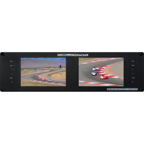 "Delvcam DELV-2LCD7-3GHD Dual Rackmount 7"" 3G-SDI Monitors"