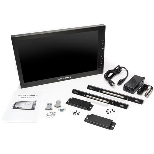 "Delvcam DELV-3GHD-17IRM 17.3"" 3G-SDI LCD Rackmount Monitor B Stock (Open)"