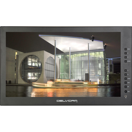 "Delvcam DELV-3GHD-17IRM 17.3"" 1920 x 1080 3G-SDI LCD Rackmount Monitor (Black)"