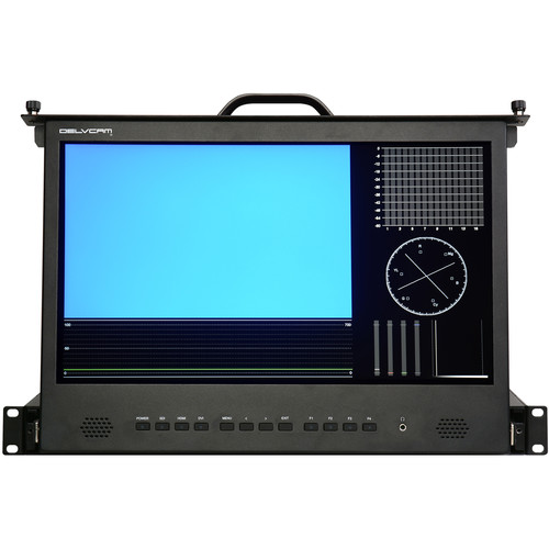 "Delvcam 17.3"" Full HD 1 RU Rack Drawer 3G-SDI Video IPS Monitor"
