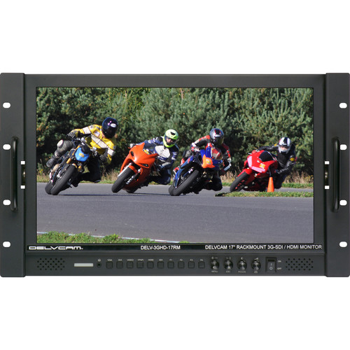 "Delvcam 17.3"" Hi-Res 3G-SDI-HDMI Rackmount LCD Monitor"
