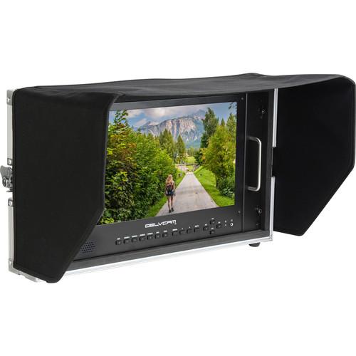 "Delvcam 4K UHD HDMI 3G-SDI Quad View LED 6RU Broadcast Monitor in Case (15"")"