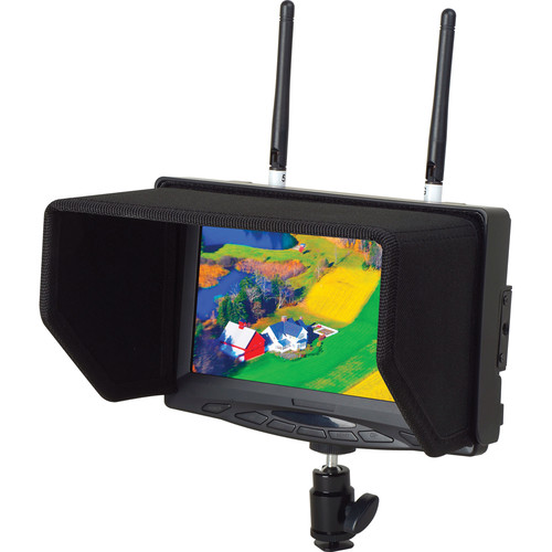 "Delvcam 7"" FPV Monitor with Dual 5.8GHz Wireless Receiver"