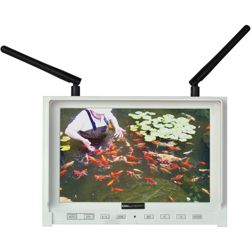 "Delvcam DELV-DUALFPV-7PL 7"" 1280 x 800 IPS FPV Monitor with Dual 5.8GHz Wireless Receiver with Built-In Battery"
