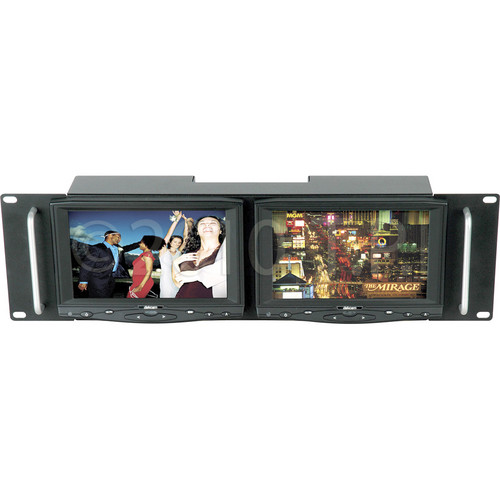 "Delvcam DELV-HD7RM Dual Rack Mount 7"" LCD Monitors"