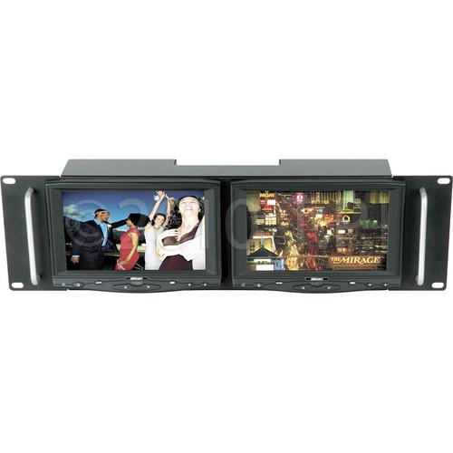 "Delvcam DELV-HD7RM Dual Rack Mount 7"" LCD Monitors"