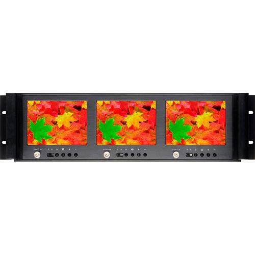 "Delvcam DELV-MLCD56RM 5.6"" Triple Rackmount LCD Monitor"
