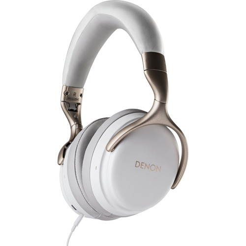 Denon AH-GC25NC Noise Cancellation Headphones (White)