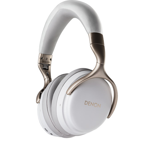 Denon AH-GC25W Wireless Over-Ear Headphones (White)