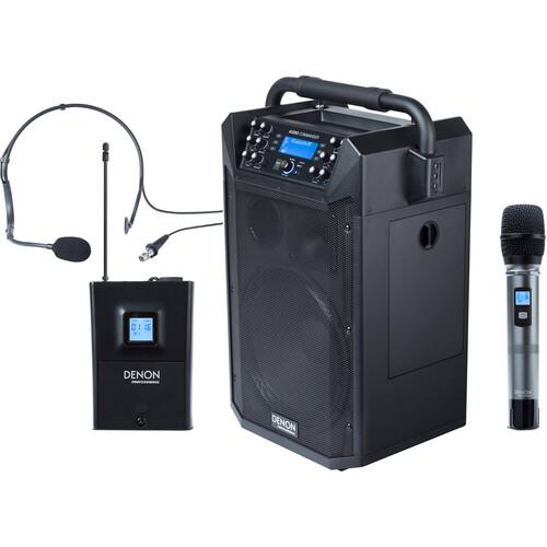 Denon Envoi Pro Audio Commander Professional Portable Wireless PA System