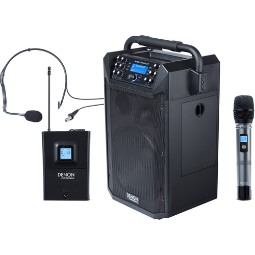 Denon Audio Commander Professional Mobile PA System with Two Wireless Microphones