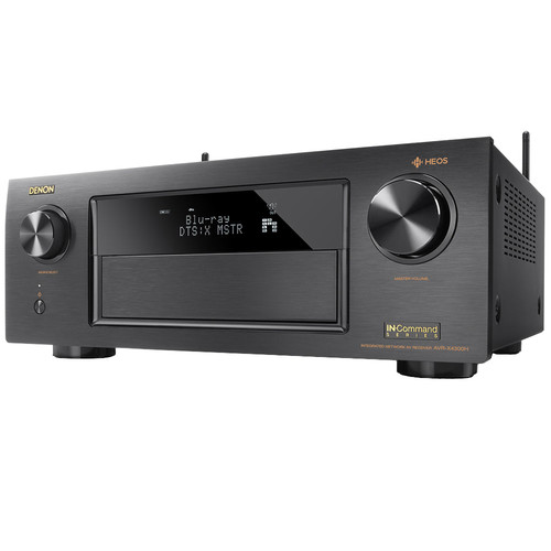 Denon AVR-X4300H 9.2-Channel Network A/V Receiver with HEOS 1 Series 2 Wireless Speaker Kit (White)