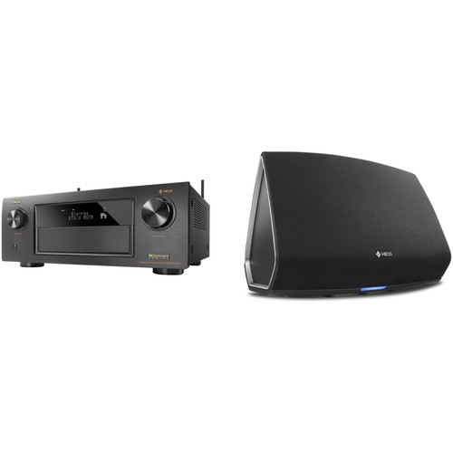 Denon AVR-X4300H 9.2-Channel Network A/V Receiver with HEOS 5 Series 2 Wireless Speaker Kit (Black)
